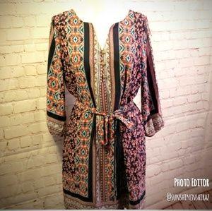 ■Love Zoe■ (L) Boho Dress with Belt